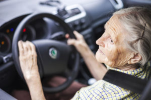 Elderly woman driving car while DUI in Tucson